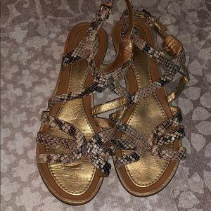 Kate Spade snakeskin sandals